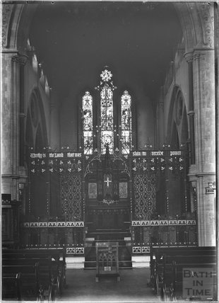 Inside St James church near Exeter, Devon c.1930s