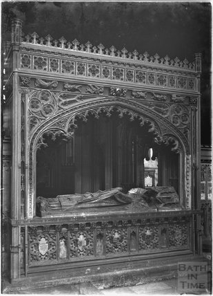 Monument inside Exeter Cathedral, Devon c.1905