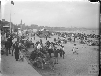 On the beach at Weymouth, Dorset 1925
