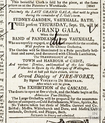 Positively the last Grand Gala at Sydney Gardens during J. Gale's term, 1812