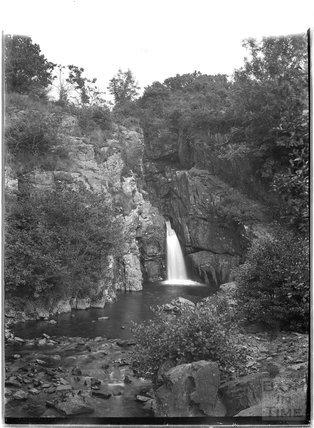 The waterfall, Lydford, Dartmoor, Devon, c.1906