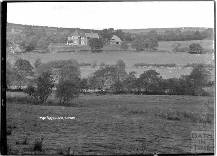 Distant view of the Parsonage at Upton, near Dulverton, Exmoor, 1934
