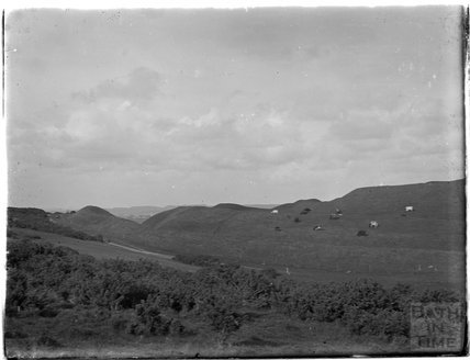 Maiden Castle near Dorchester, c.1920s