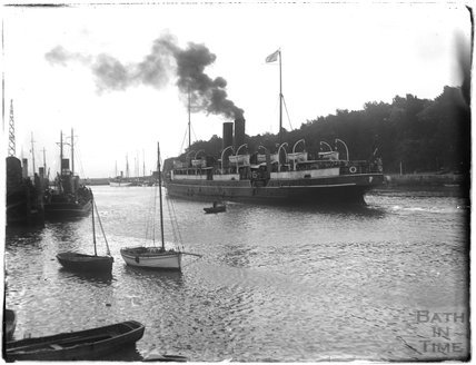 A steamship at Weymouth, 1924
