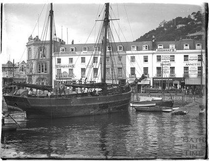 The quayside, Torquay, 1930