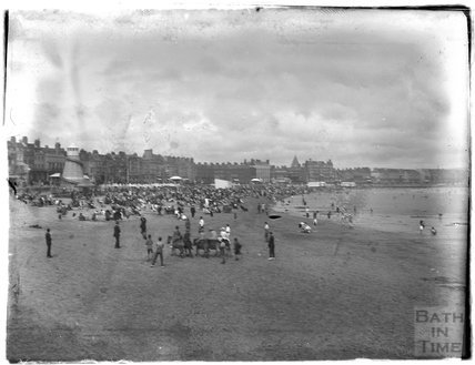 Beach entertainment at Weymouth, 1924