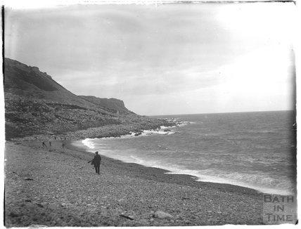 On the beach, Weymouth, 1924