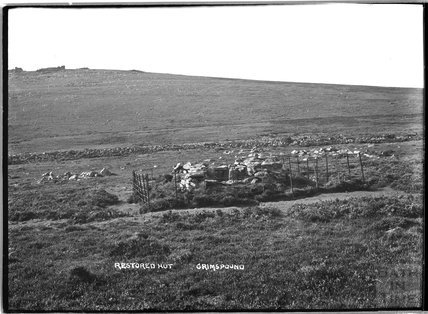 Restored Hut, Grimspound, Dartmoor, Devon, 1906