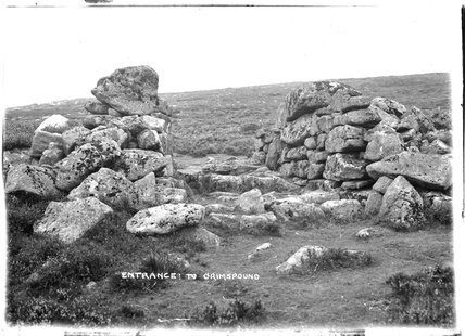 Entrance to Grimspound, Dartmoor, Devon, 1906