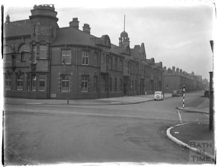 Unidentified street in town, c.1920s
