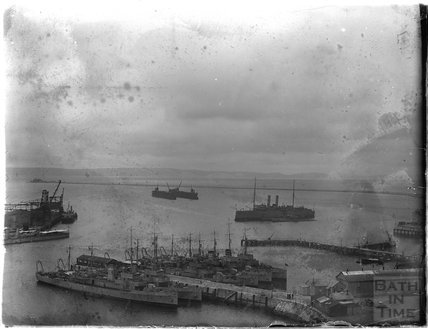 The port at Weymouth, 1924