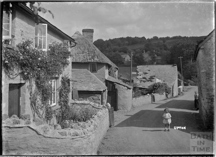 A charming street view of Upton, near Dulverton, Exmoor, 1934