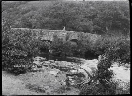 Fingle Bridge, no.10, Dartmoor, Devon, 1920s