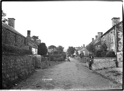 Street scene, Lydford, Dartmoor, Devon, c.1906