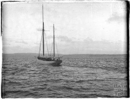 A sailing boat, Torquay, 1930