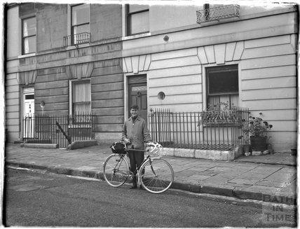 Outside 32 Sydney Buildings, Bath, c.1950s