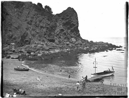 A secluded beach near Paignton, Devon, late 1920s