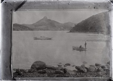 On an unidentified lake in New Zealand, c.1915