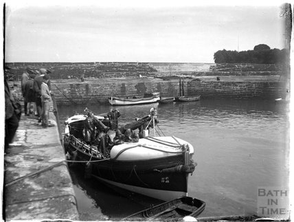 A lifeboat near Paignton, Devon, late 1920s