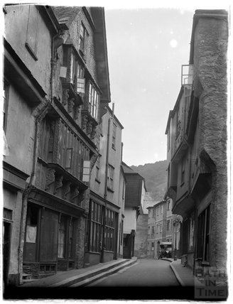 Close to the Butterwalk, Duke Street, Dartmouth, Devon, 1929