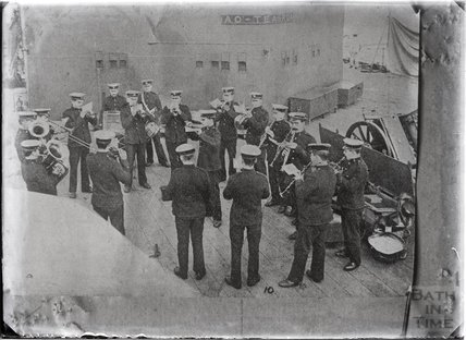 On the upper deck, HMS New Zealand, c.1915