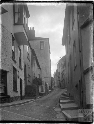 The bottom of Crowther's Hill, Dartmouth, Devon, 1929
