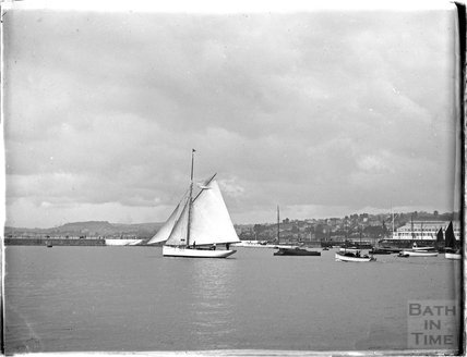 Sailing yachts at Brixham / Paignton, Devon 1930