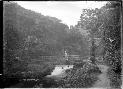 One the East Lyn, near Lynmouth, Exmoor, Devon c.1910s