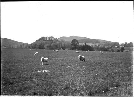 View of Dunster from across the fields, near Minehead, Somerset c.1920s