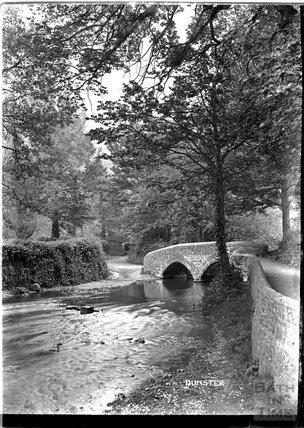 Ancient bridge, Dunster, near Minehead, Somerset c.1920s