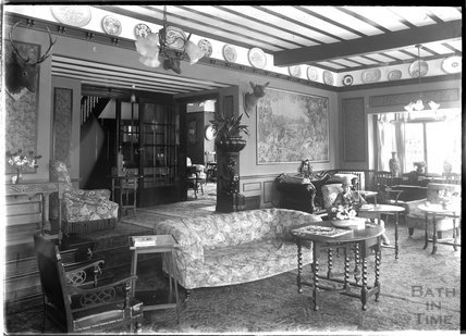 Unidentified interior thought to be near Minehead, Somerset, 1932
