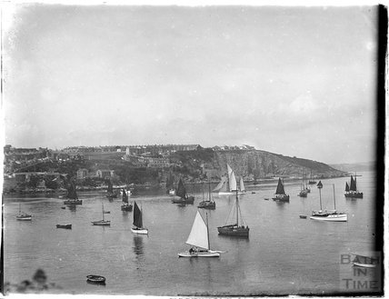 Sailing yachts at Brixham / Paignton, Devon 1930