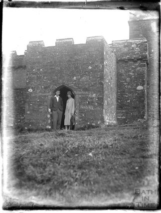 A castle thought to be near Yelverton, Dartmoor, Devon, 1928