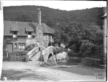 The packhorse bridge, Allerford, near Minehead, Somerset c.1932