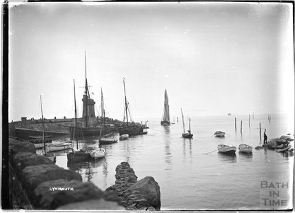 The harbour at near Lynmouth, Exmoor, Devon c.1910s