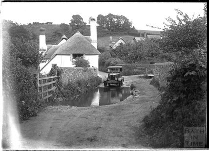 Ford in a village near Minehead, Somerset, 1932
