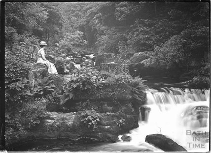 The waterfall at Lynton near Lynmouth, Exmoor, Devon c.1910s
