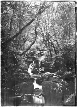 Glen Lyn waterfall, Lynton near Lynmouth, Exmoor, Devon c.1910s