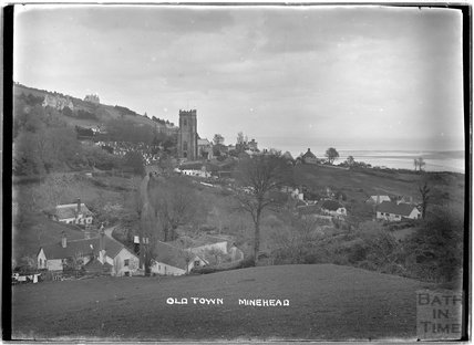 View of the Old Town, Minehead, Somerset c.1905 - 1915