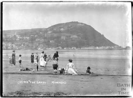 On the sands, Minehead, Somerset, no.15 c.1905 - 1915