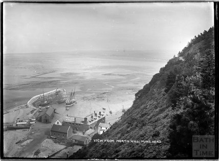 View of the quay from North Hill, Minehead, Somerset c.1905 - 1915