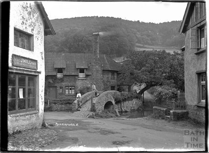On the packhorse bridge, Allerford, near Minehead, Somerset, no.8, c.1905 - 1915