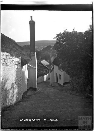 Church Steps, Minehead, Somerset c.1905 - 1915