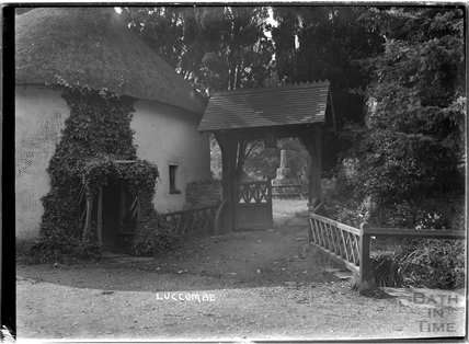 Lych gate, Church of St Mary, Luccombe near Minehead, Somerset,  c.1905 - 1915