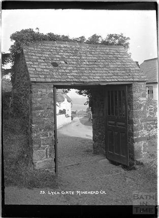 Lych Gate, Church of St Michael, Minehead, Somerset c.1905 - 1915