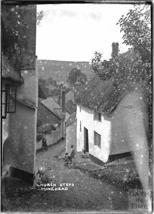 Church Steps, Minehead, Somerset,  c.1905 - 1915