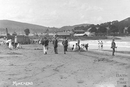 On the sands, Minehead No. 2 c.1905-1915 - detail
