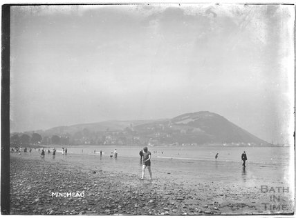 On the beach, Minehead, Somerset c.1905 - 1915