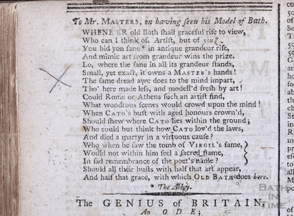 A poem to Charles Harcourt Masters, 1789