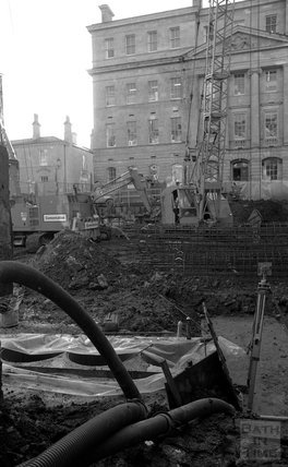 The construction site at Thermae Bath Spa, 24 January, 2001